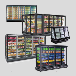 merchandising refrigeration | glass doors cooler | supermarket refrigerated showcase